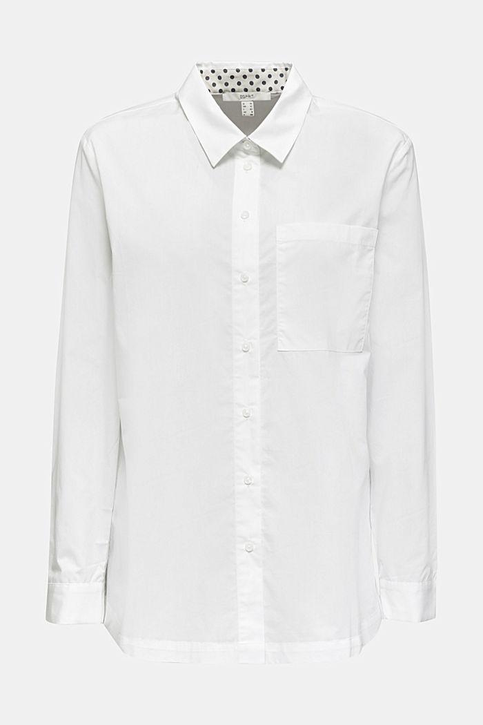 Casual overhemdblouse, 100% katoen, WHITE, detail image number 6