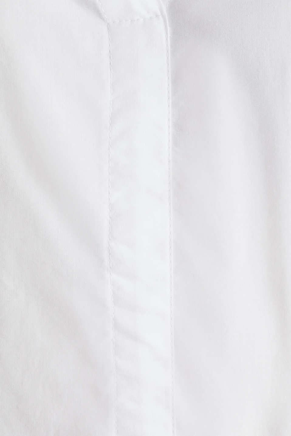 Blouse with turn-up sleeves, 100% cotton, WHITE, detail image number 4