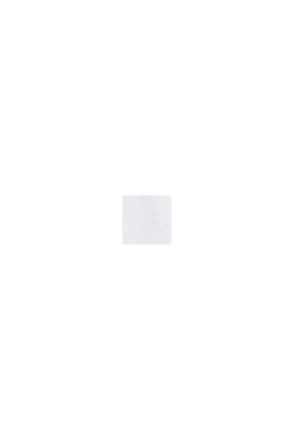Bluse med opsmøgbare ærmer, 100% bomuld, WHITE, swatch