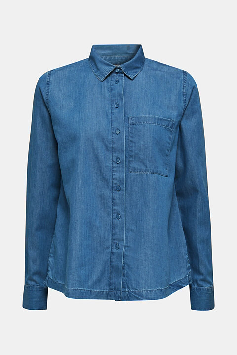 Denim blouse with lyocell