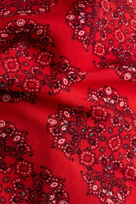 Print blouse with LENZING™ ECOVERO™, DARK RED 4, detail
