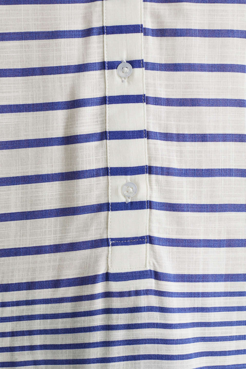 Striped blouse made of LENZING™ ECOVERO™, BRIGHT BLUE 3, detail image number 3