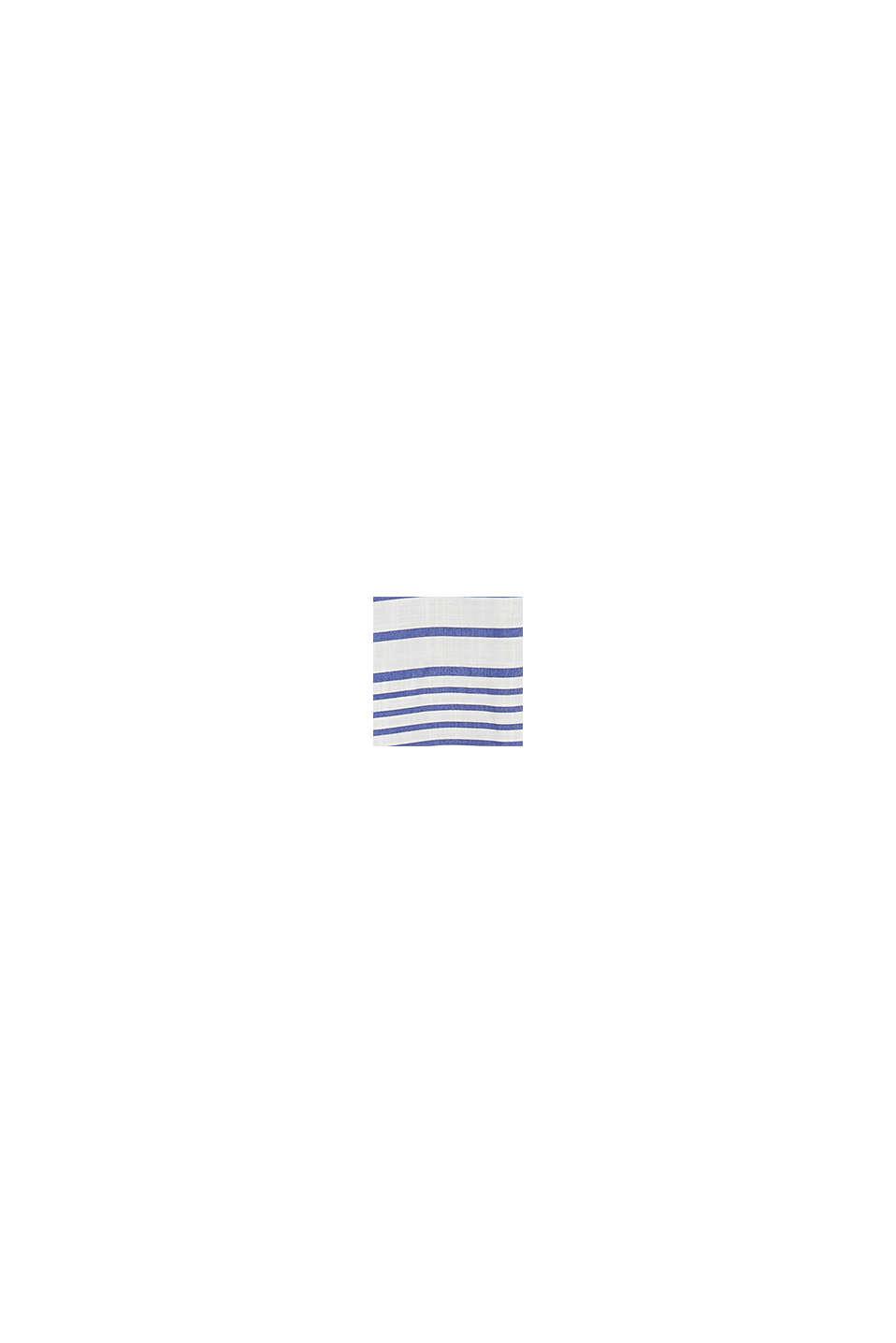 Gestreepte blouse van LENZING™ ECOVERO™, BRIGHT BLUE, swatch