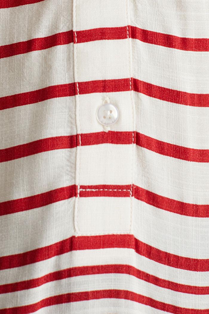 Streifen-Bluse aus LENZING™ ECOVERO™, DARK RED, detail image number 4