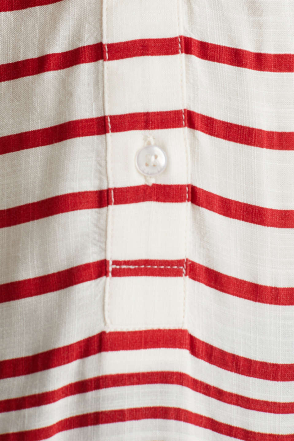 Striped blouse made of LENZING™ ECOVERO™, DARK RED 3, detail image number 4
