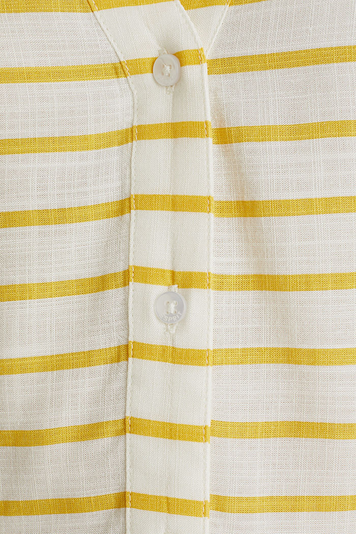 Striped blouse made of LENZING™ ECOVERO™, YELLOW, detail image number 3