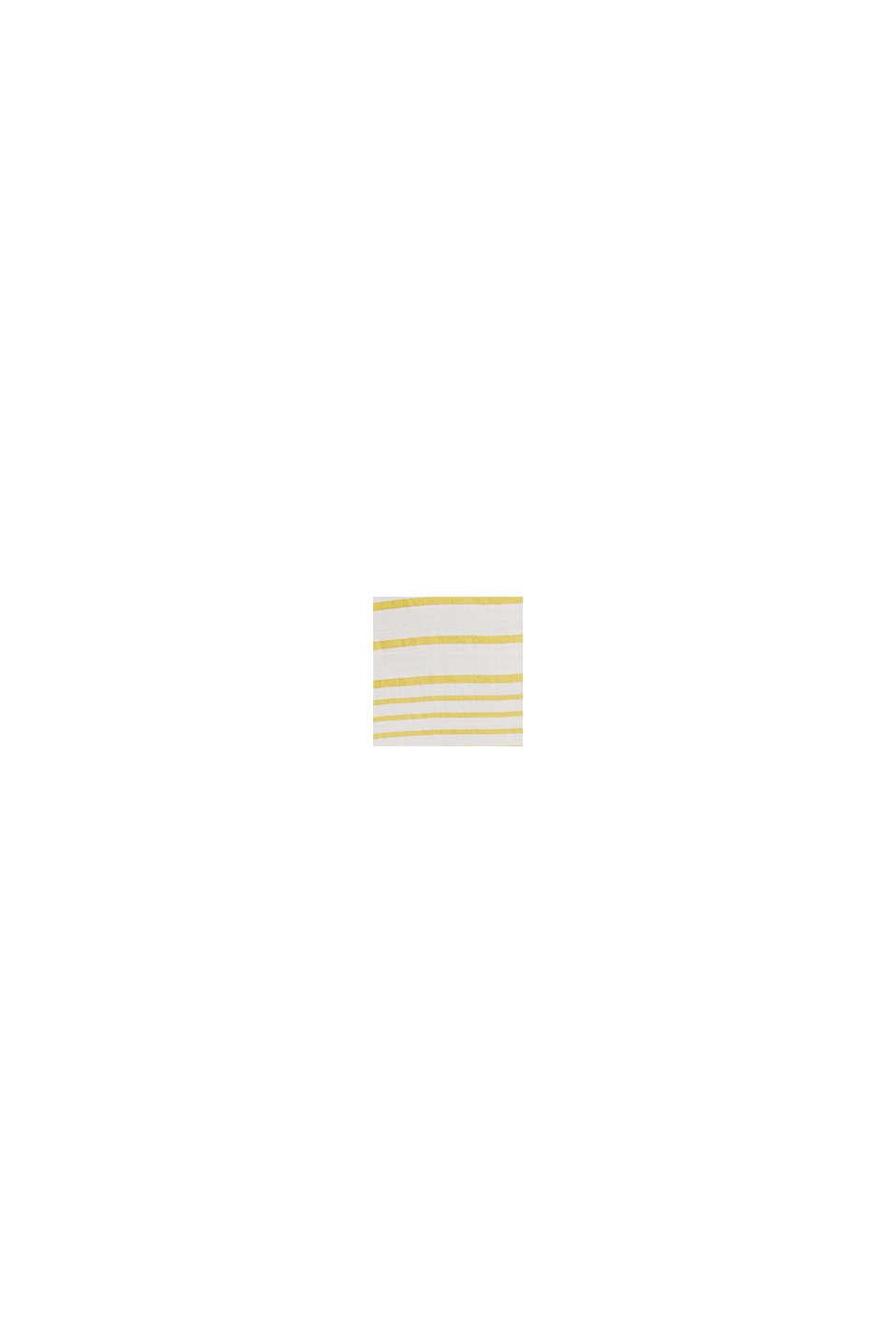 Gestreepte blouse van LENZING™ ECOVERO™, YELLOW, swatch