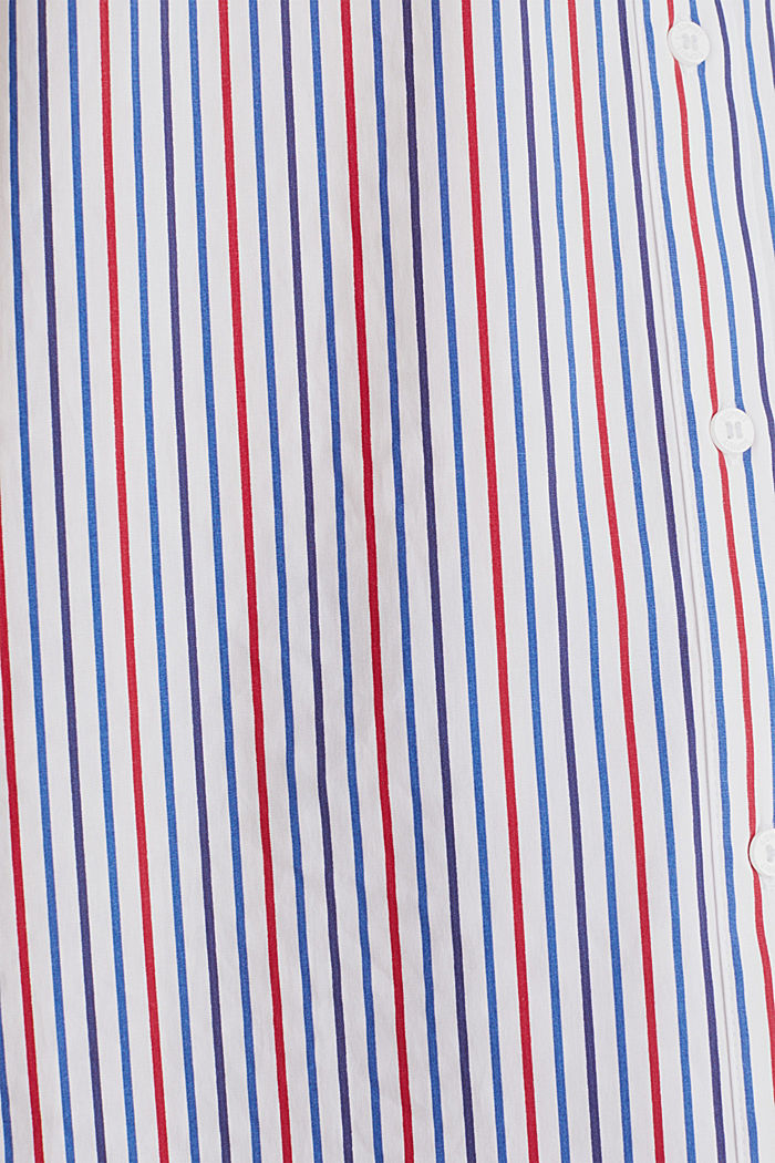 Oversized stretch blouse with multicoloured stripes, NEW WHITE, detail image number 4