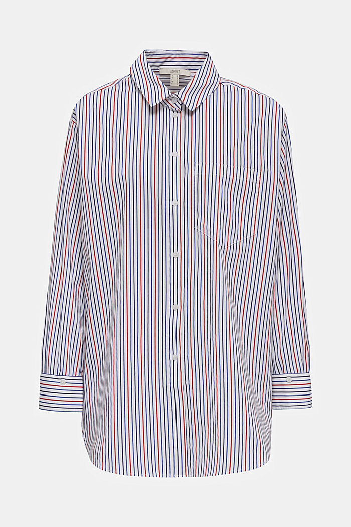 Oversized stretch blouse with multicoloured stripes, NEW WHITE, detail image number 6