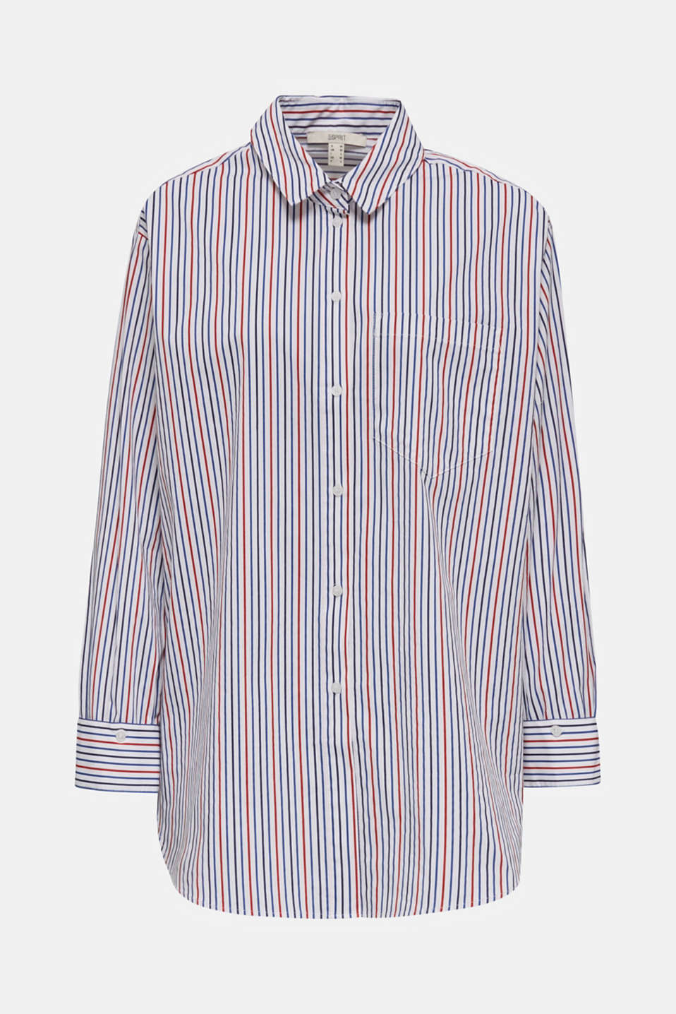 Oversized stretch blouse with multicoloured stripes, WHITE 4, detail image number 6