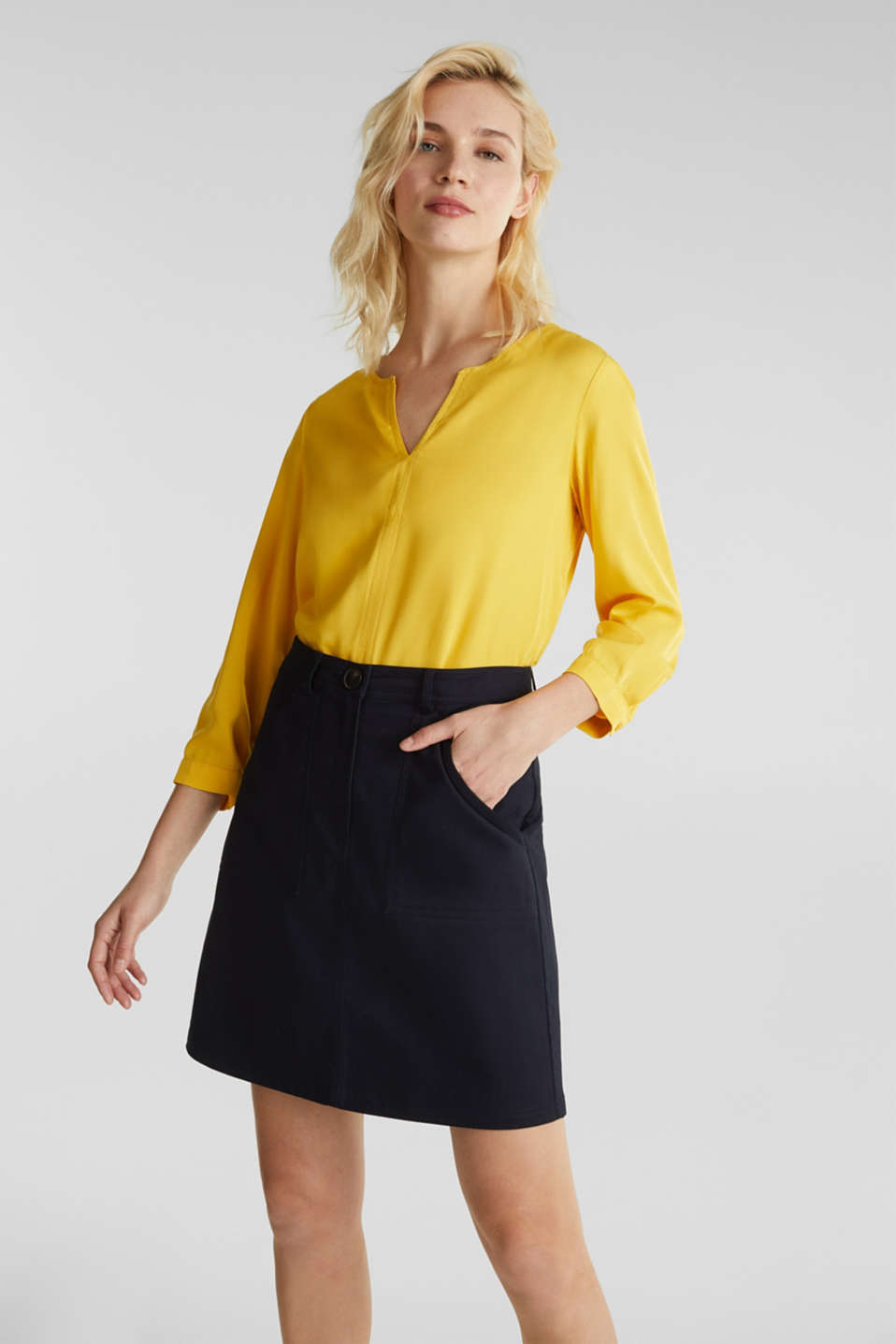 Esprit - Tunic blouse with three-quarter length sleeves