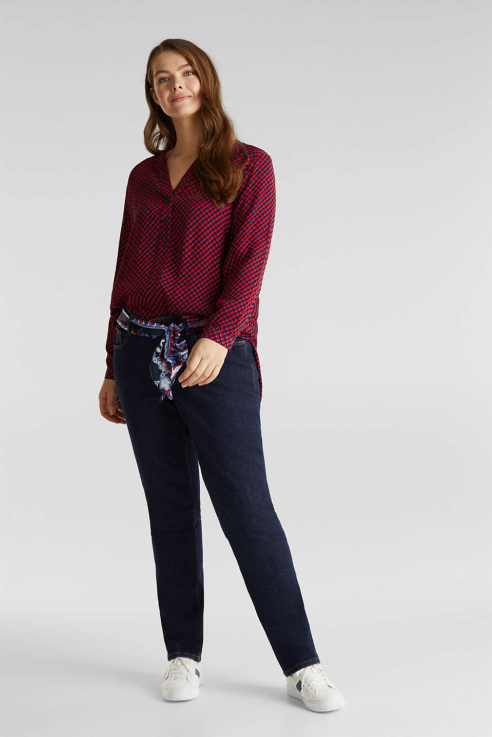 CURVY blouse, LENZING™ ECOVERO™, NAVY 4, detail image number 6