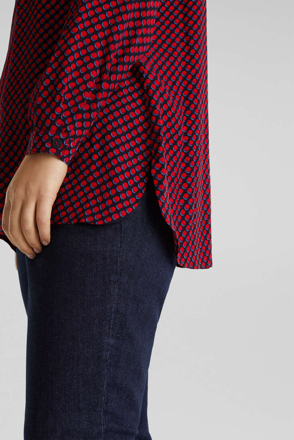 CURVY blouse, LENZING™ ECOVERO™, NAVY 4, detail image number 4