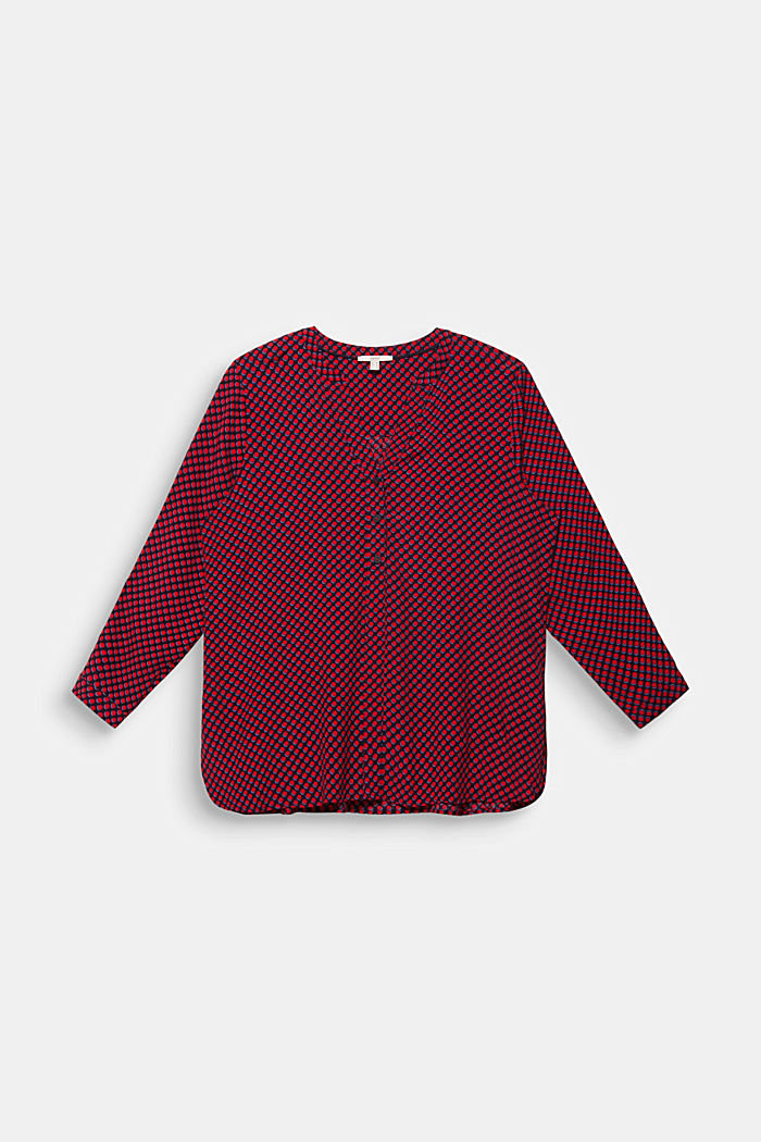 CURVY blouse, LENZING™ ECOVERO™, RED, detail image number 0