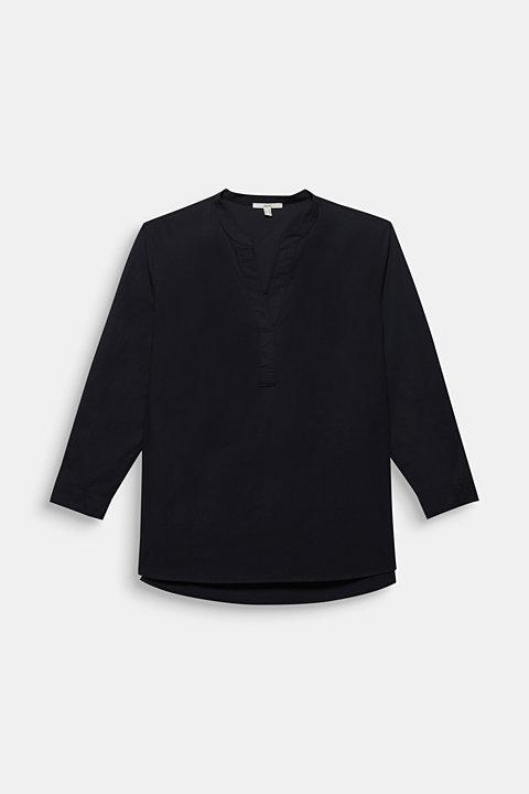 CURVY simple blouse top, 100% cotton