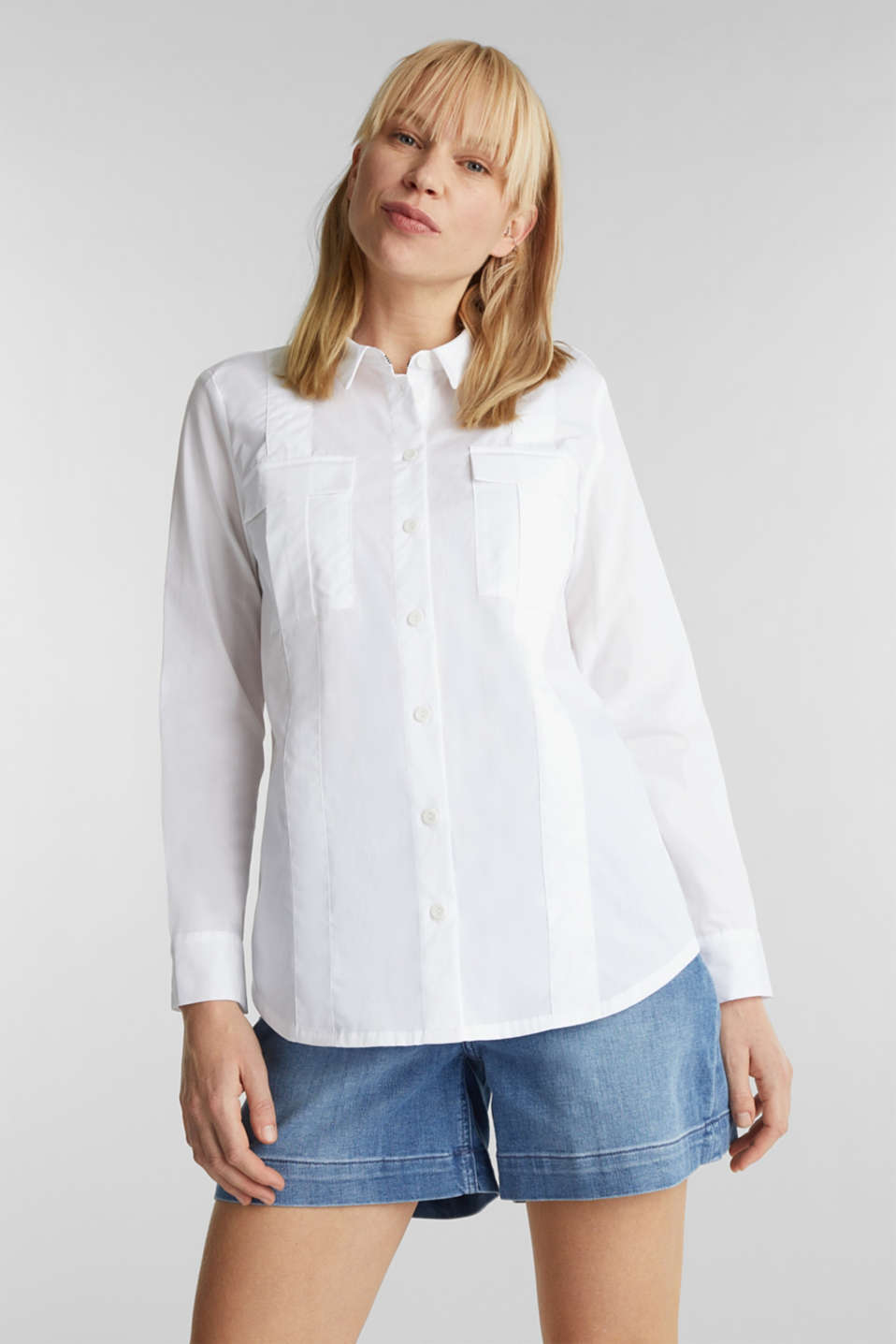 Esprit - Utility blouse in 100% organic cotton