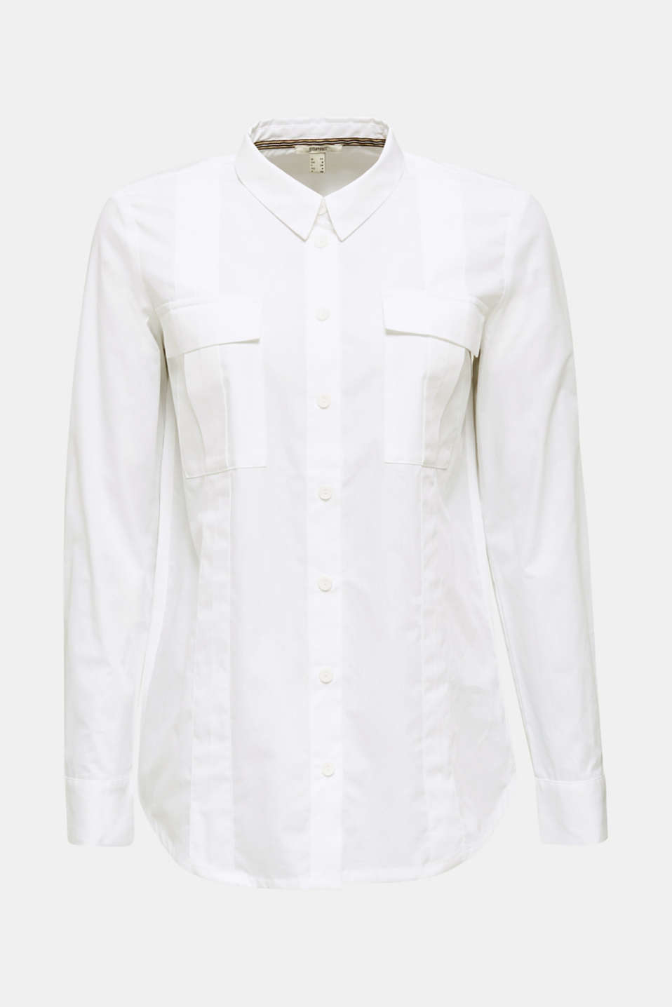 Utility blouse in 100% organic cotton, WHITE, detail image number 6