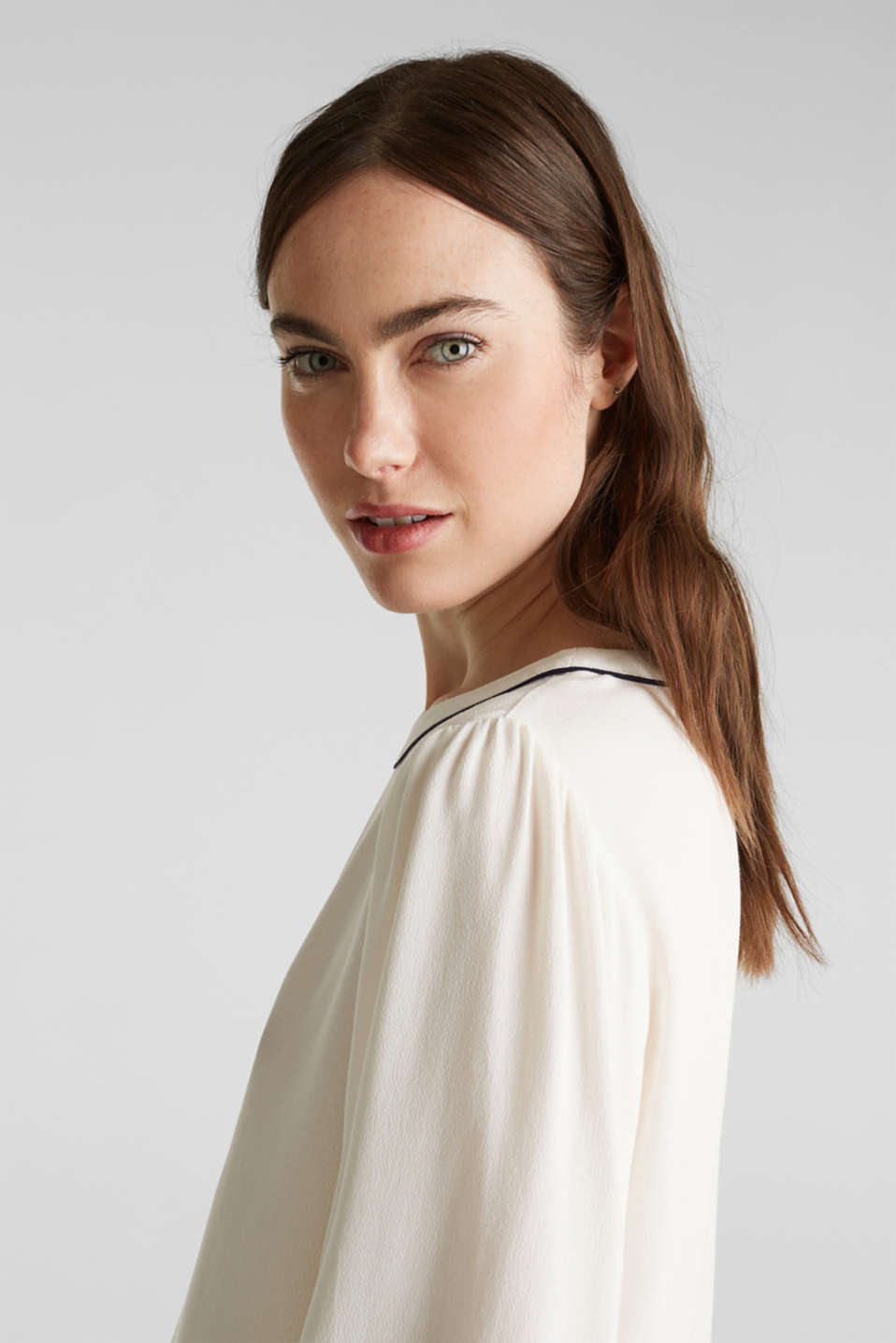Blouse with 3/4-length sleeves, OFF WHITE, detail image number 2