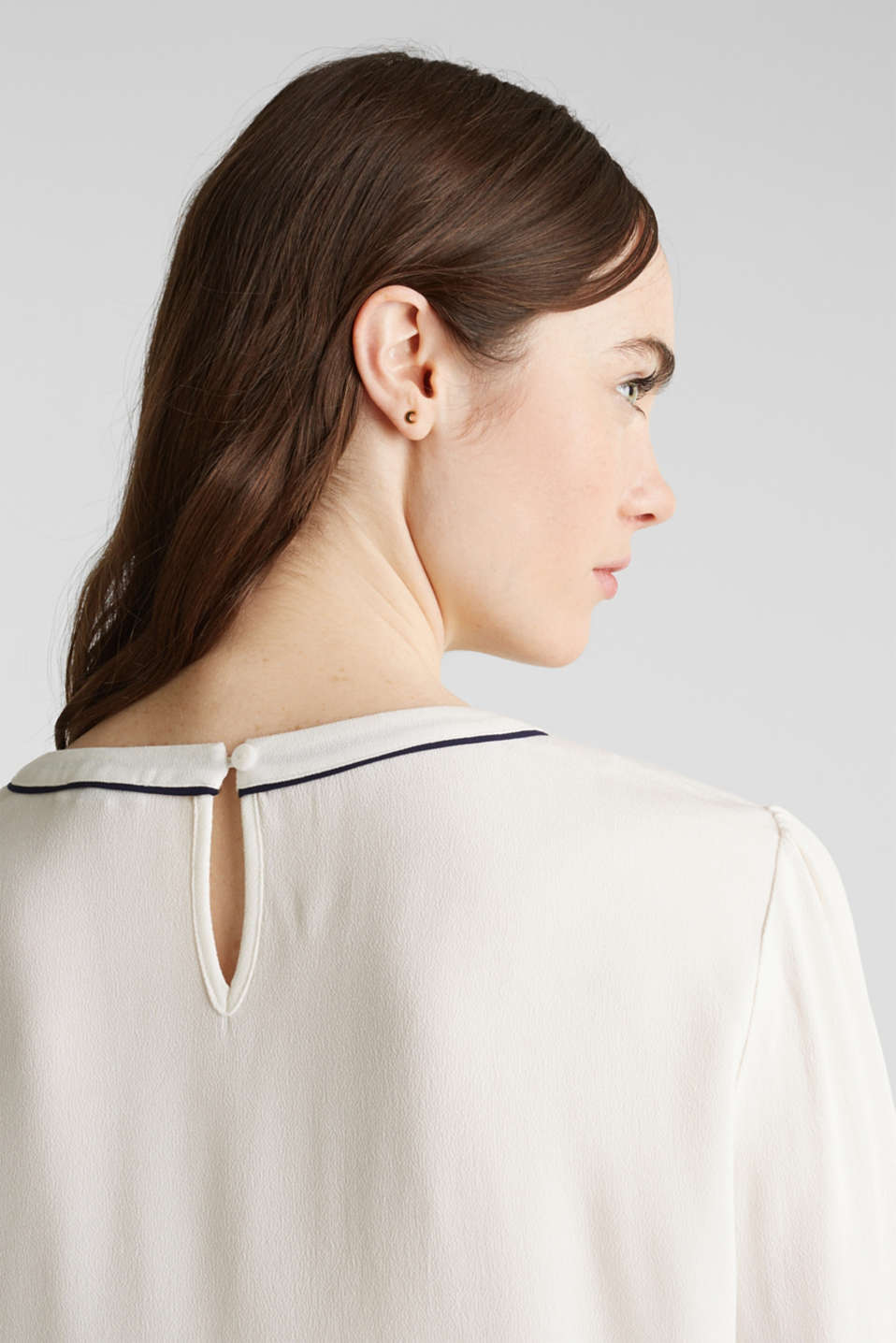 Blouse with 3/4-length sleeves, OFF WHITE, detail image number 5