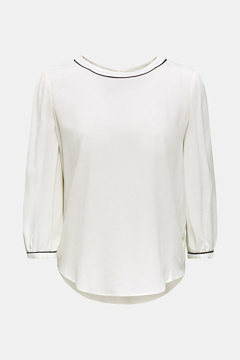 Blouse with 3/4-length sleeves