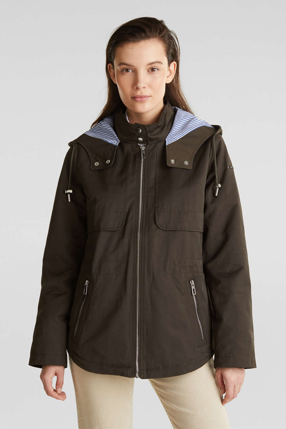 Esprit - Short parka with a hood