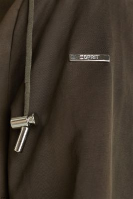 Short parka with a hood, DARK KHAKI, detail