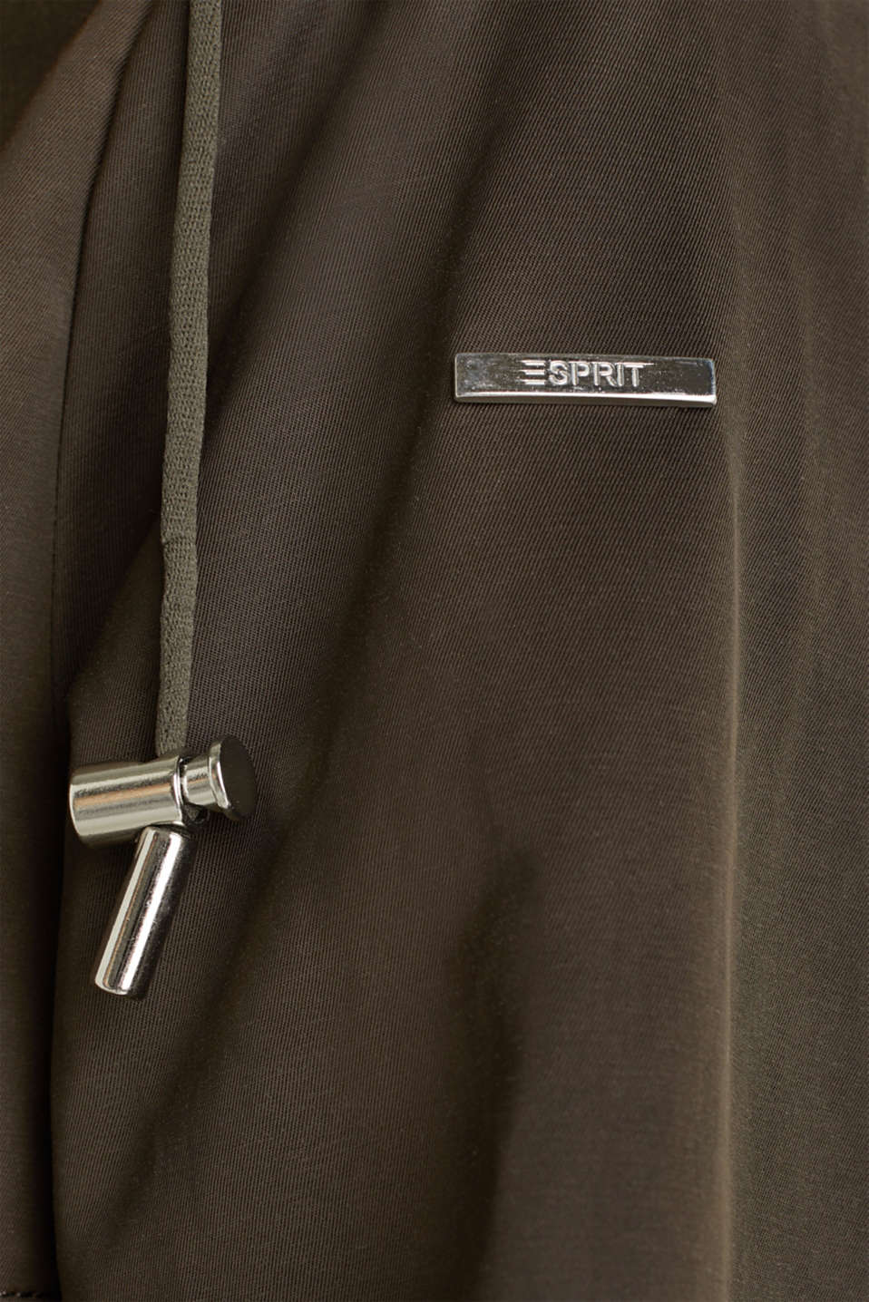 Short parka with a hood, DARK KHAKI, detail image number 4