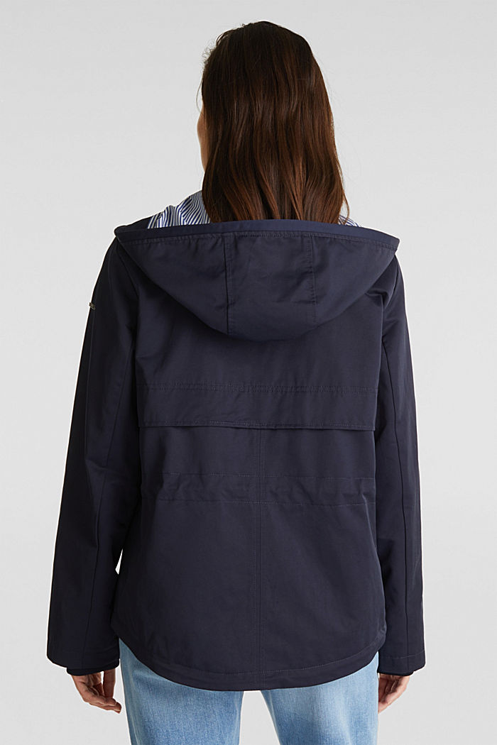 Short parka with a hood, NAVY, detail image number 3