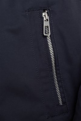 Short parka with a hood, NAVY, detail