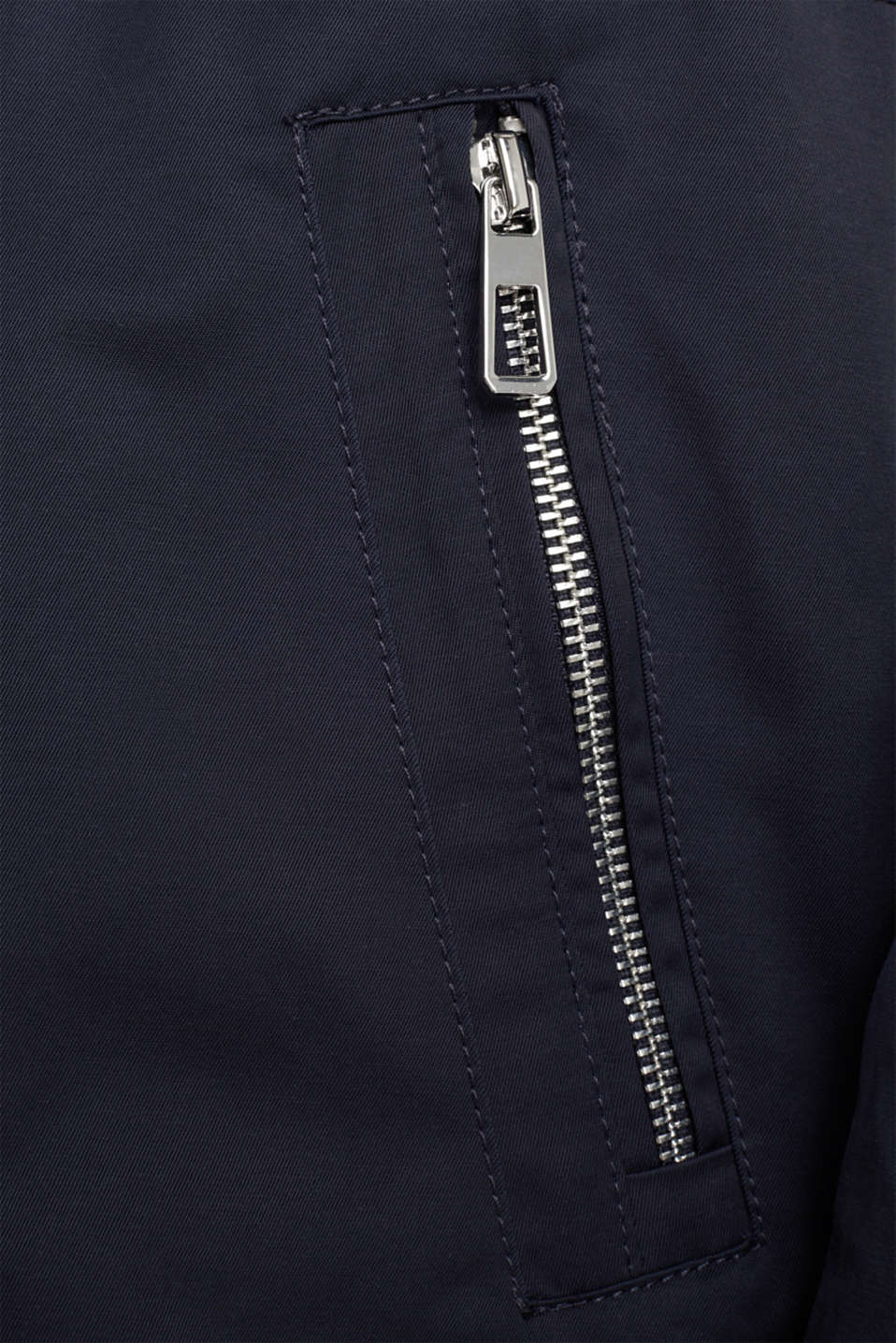 Short parka with a hood, NAVY, detail image number 4