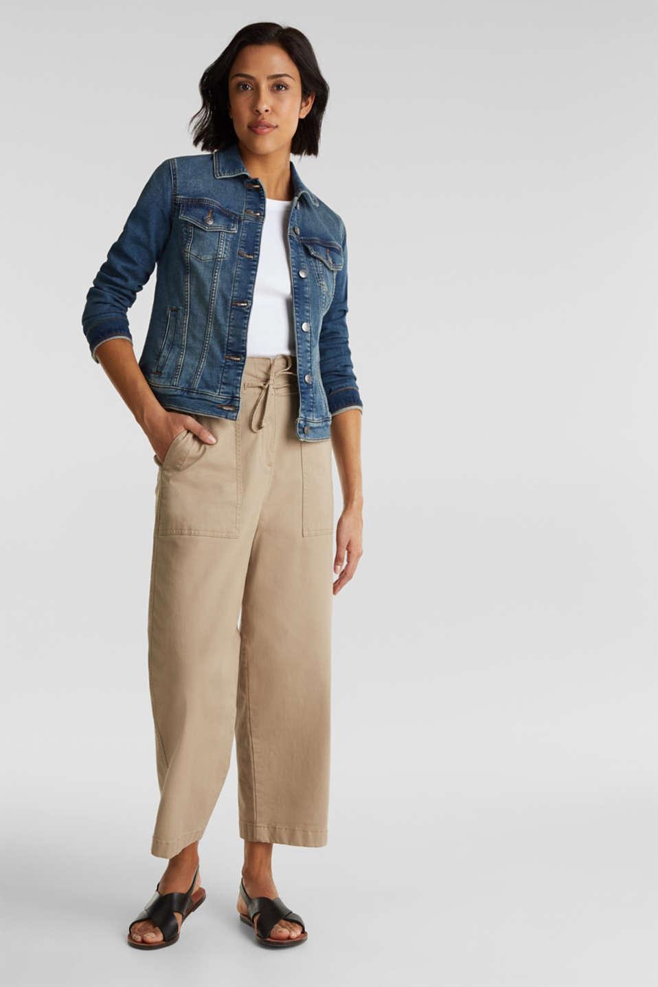Stretch denim jacket, organic cotton, BLUE MEDIUM WASH, detail image number 1