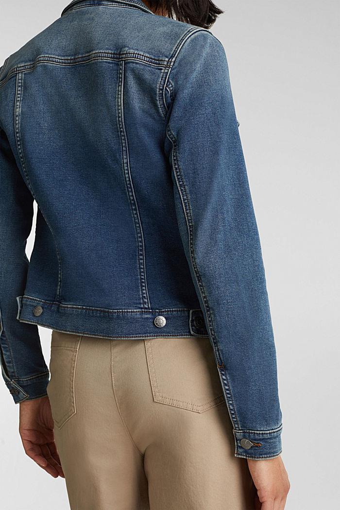 Stretch denim jacket, organic cotton, BLUE MEDIUM WASHED, detail image number 5