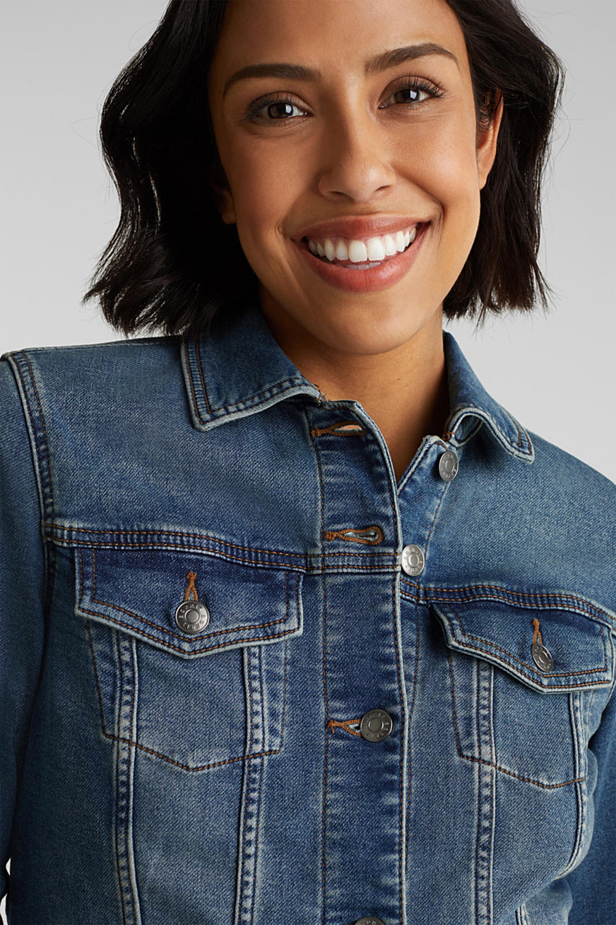 Stretch denim jacket, organic cotton