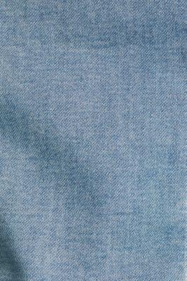 Stretch denim jacket with organic cotton, BLUE LIGHT WASH, detail