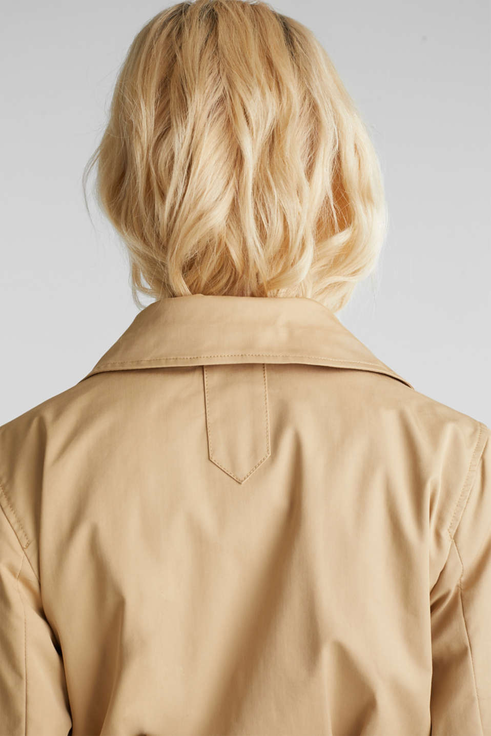Trench coat with tape details, BEIGE, detail image number 4