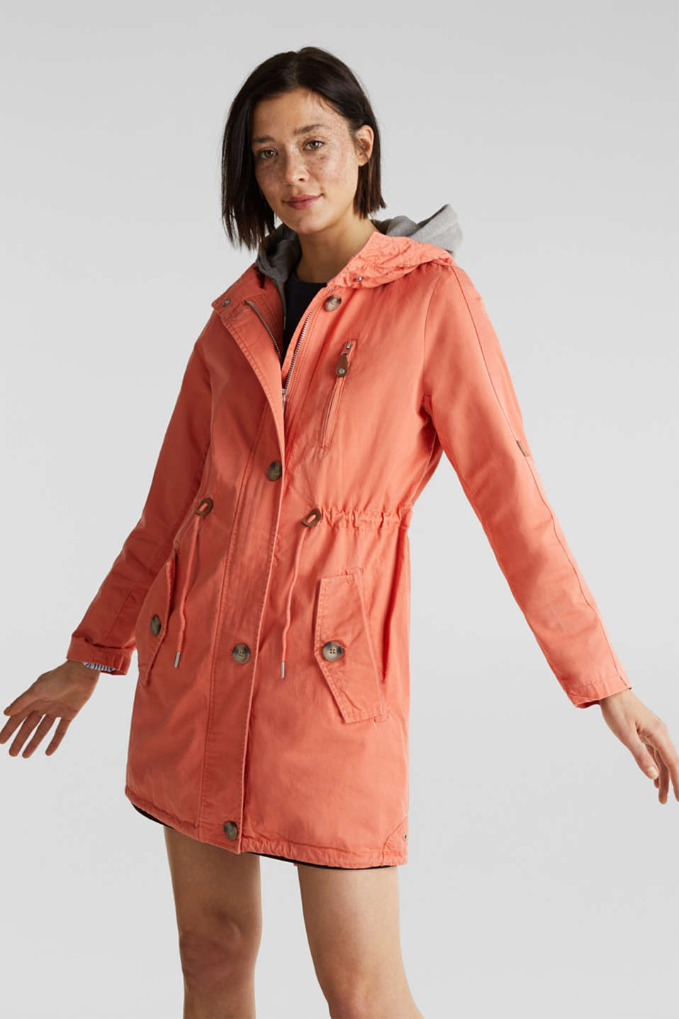 Esprit - Parka in a garment washed look