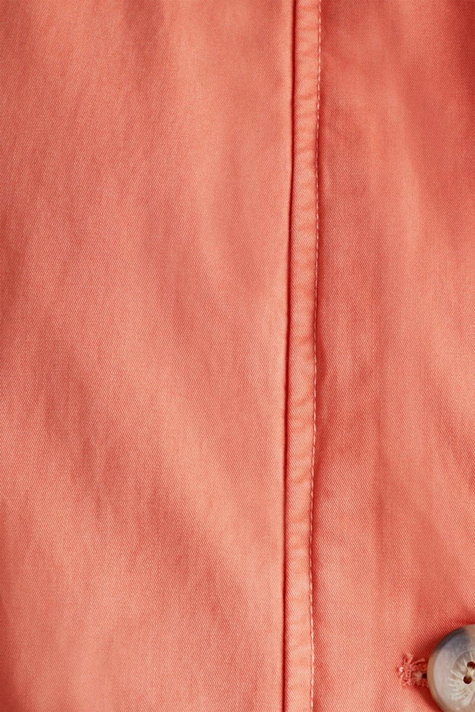 Parka in a garment washed look, ORANGE, detail image number 4