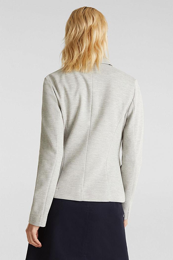 Jersey-Stretch-Blazer aus Piqué, LIGHT GREY, detail image number 3