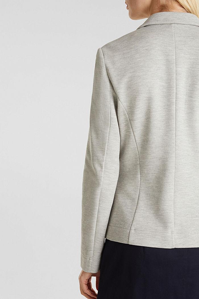 Jersey-Stretch-Blazer aus Piqué, LIGHT GREY, detail image number 2