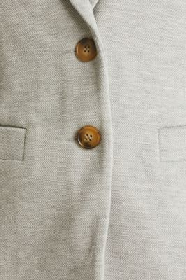 Stretch jersey blazer in piqué fabric, LIGHT GREY 5, detail