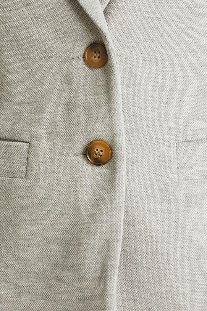 Jersey-Stretch-Blazer aus Piqué, LIGHT GREY, detail image number 4