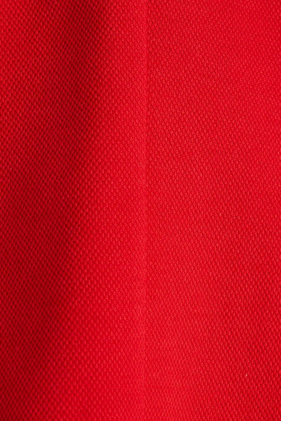 Fitted stretch piqué blazer, DARK RED, detail image number 4