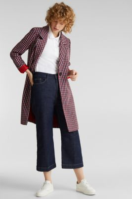 Coat with a colourful houndstooth pattern, NAVY 3, detail
