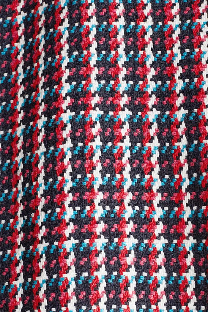 Mantel met kleurrijk pied-de-poule motief, RED COLORWAY, detail image number 4