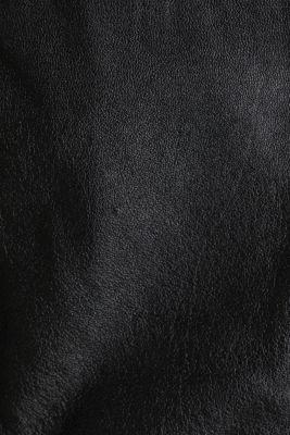 Made of leather: biker jacket with a vintage finish, BLACK, detail