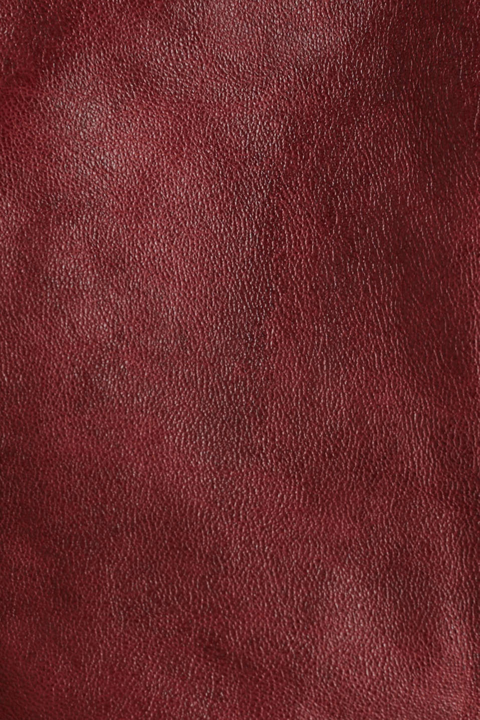 Made of leather: biker jacket with a vintage finish, DARK RED, detail image number 3