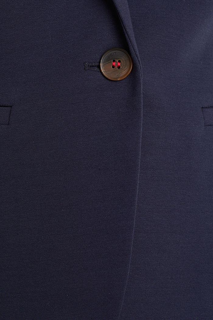 Blazer de jersey elástico con costuras decorativas, NAVY, detail image number 4