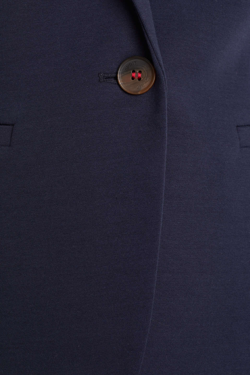 Stretch jersey blazer with decorative stitching, NAVY, detail image number 4