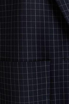 Stretch jersey blazer with a check pattern, NAVY 3, detail