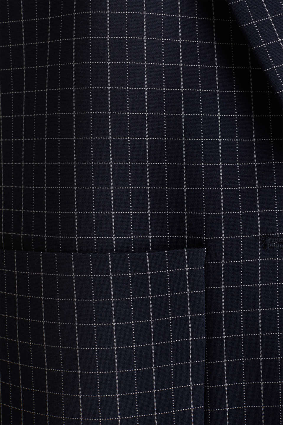 Stretch jersey blazer with a check pattern, NAVY 3, detail image number 4